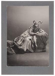 Portret van H.G. Cannegieter als Belzebub in het toneelstuk 'Lucifer' van Vondel