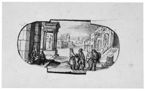 De barmhartige Samaritaan betaalt de herbergier om de gewonde reizger te verzorgen (Lucas 10:30-37)