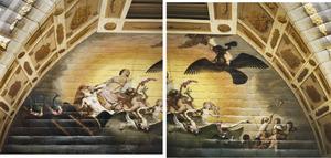 Allegorie op het huwelijk, met Venus, Juno, Jupiter en Ganymedes