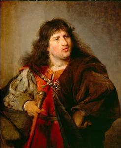 Portret van een man in historiserend kostuum