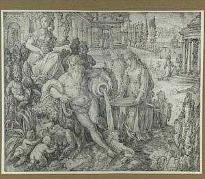 De Vestaalse maagd Tuccia bewijst haar maagdelijkheid door water in een zeef te dragen (Valerius Maximus 8.1.5)