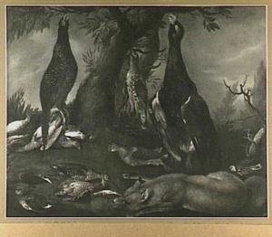 Jachtbuit van gevogelte en vos