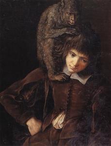 Jonge man met aap
