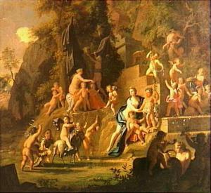 Een feest ter ere van Bacchus en Venus