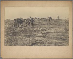 Artillerie-oefening op de heide