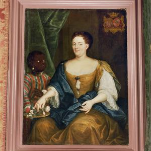 Portrait of Anna Margaretha van Renesse (1703-1775), met een bediende