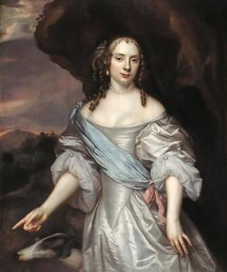 Portret van een vrouw genaamd Françoise van Aerssen van Sommelsdijk (1642-1720)