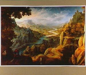Berglandschap met Jacob en Laban (Genesis 29)