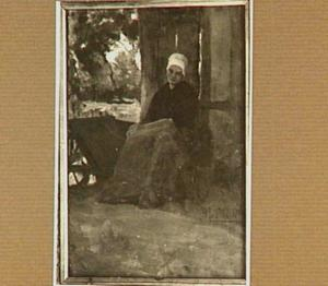 Rustende boerenvrouw