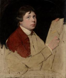 Zelfportret van John Hamilton Mortimer (1740-1779)