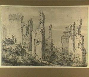 Ruïne van het kasteel te Egmond op den Hoef
