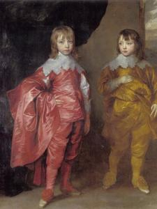 Portret van George Villier, later 2nd Duke of Buckingham and 20th Baron de Ros (1628-1687) en Lord Francis Villiers (1629-1648)