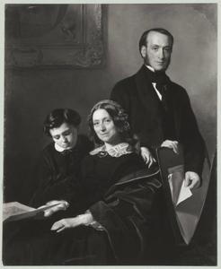 Portret van de vrouw, broer en zoon van Willem Hendrik Schmidt (1809-1849)
