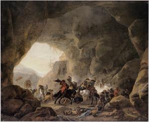 Ruitergevecht in een grot