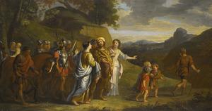 Volumnia en Veturia smeken Coriolanus af te zien van de oorlog tegen Rome