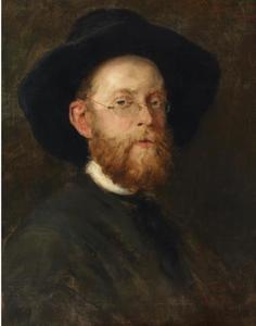 Portret van de schilder Otto Ruprecht (1846-1893)