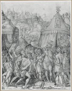 Camillus gebiedt de gevangen schoolmeester van de Falerri te ontkleden