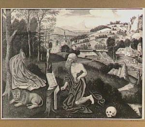 Heuvellandschap met de boetvaardige H. Hieronymus in de wildernis