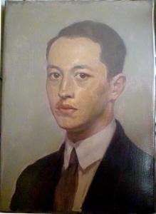 Zelfportret van de schilder Bob Bruijn (1906-1989)