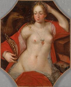 Vrouwelijk personificatie van een der vijf zintuigen: het Gezicht