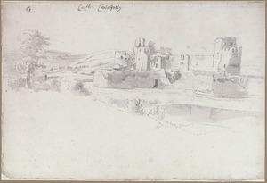 Caerphilly Castle in Zuid Wales