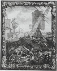 Don Quichotte vecht met de windmolens