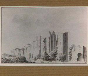 Ruïne van kasteel Brederode vanuit het zuidoosten