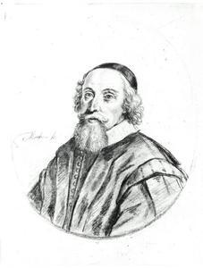 Portret van een man genaamd Johannes Buggaeus (1586-1636)