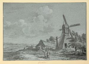 Landschap met windmolen