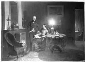 Dubbelportret van Johannis Wilhelmus de Bruyn (1819-1851) en Emilia Henrietta Maria van Berckel (1824-1870)