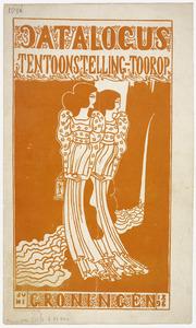 Voorblad catalogus Tentoonstelling Toorop Groningen 1896 (juni)