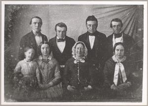 Portret van Jan Carel van Wessem (1799-1864), Maartje Corver (1801-1884) en hun kinderen