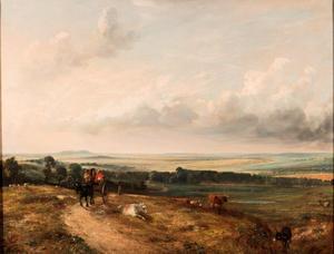 Gezicht op View of Hampstead Heath. Met Child's Hill, Harrow in achtergrond