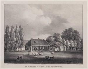 Hofstede Duinlust gezien vanaf een weiland