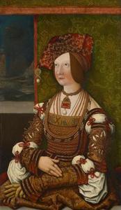 Portret van Bianca Maria Sforza (1472-1510)
