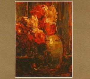 Gemberpot met tulpen
