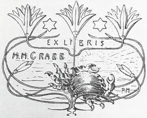 Ex libris for H.H. Crabb