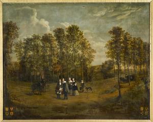 Familieportret mogelijk van Silvester (Vastert) Heereman (1600-1673) en Anna van Swieten (1603-1659) en Diederick (Dirk) Heereman (1637-1678) en Anna Maria Ramp (1637-1710)