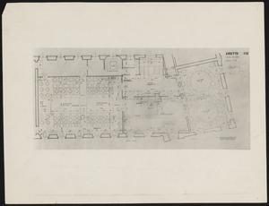 Plattegrond van de eerste verdieping van de Aubette