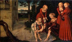 David bespiedt vanaf zijn balkon Batseba bij haar toilet (2 Samuel 11:2-3)