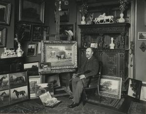 Portret van W.C. Nakken in zijn atelier, Huyggensstraat 22, 's Gravenhage