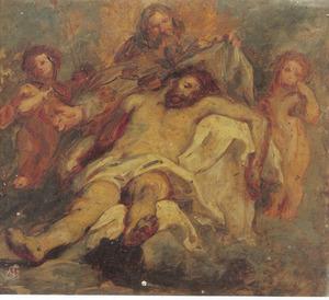 De H. Drieënheid met de instrumenten van de Passie: de Nood Gods, ook wel de Genadesoel genaamd