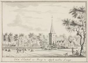 Het kasteel en de kerk in Spijk