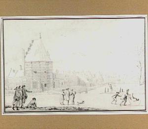 De Papentoren te Haarlem in de winter (de Winter)