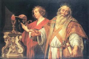 Allegorie op de Heilige Augustinus als kerkleraar