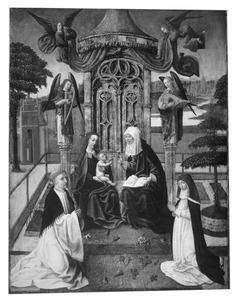 Anna-te-Drieën met engelen en stichters
