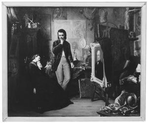 De schilder in zijn atelier