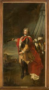 Portret van Eugenius van Savoye-Carignan (1663-1736), met een bediende