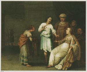 Jozef door Potifars vrouw beschuldigd (Genesis 39: 17-20)
