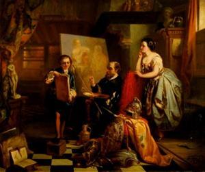Rubens in het atelier van zijn leermeester Adam van Noort